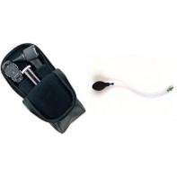 Diagnostiskt kit med oftalmoskop och otoskop i mjuk väska med bollpump för trumhinnetest